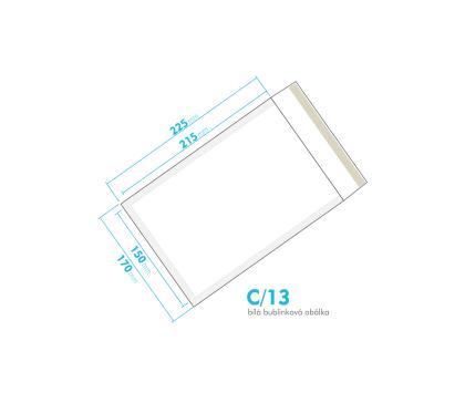 Bílá bublinková obálka C/13 vnitřní rozměr 150x215 mm