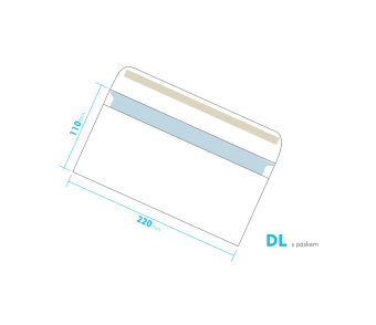 Dopisní obálka - DL s páskem
