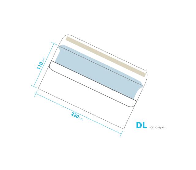 Dopisní obálka - DL samolepící