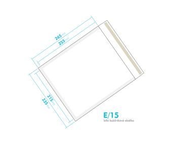 Bílá bublinková obálka E/15 vnitřní rozměr 215x255 mm