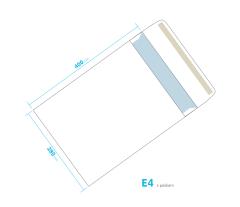 Dopisní obálka - E4 s páskem
