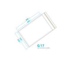 Bílá bublinková obálka G/17 vnitřní rozměr 225x340 mm