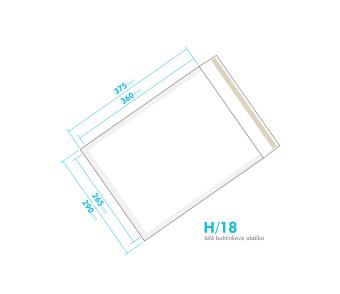 Bílá bublinková obálka H/18 vnitřní rozměr 265x360 mm