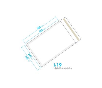 Bílá bublinková obálka I/19 vnitřní rozměr 295x455 mm