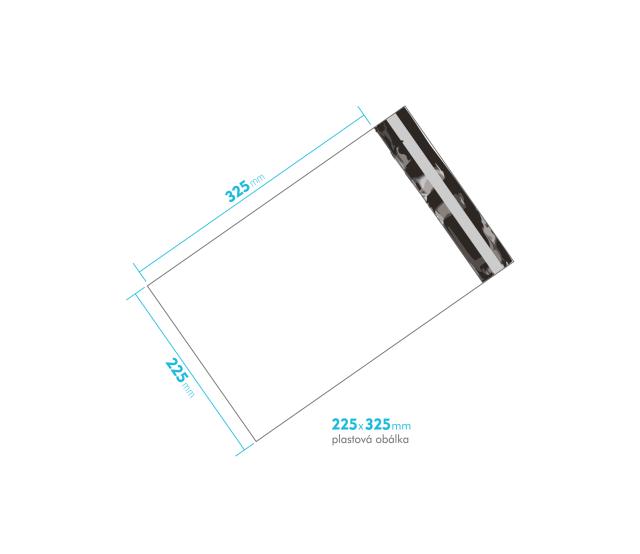 Plastová obálka 225x325mm