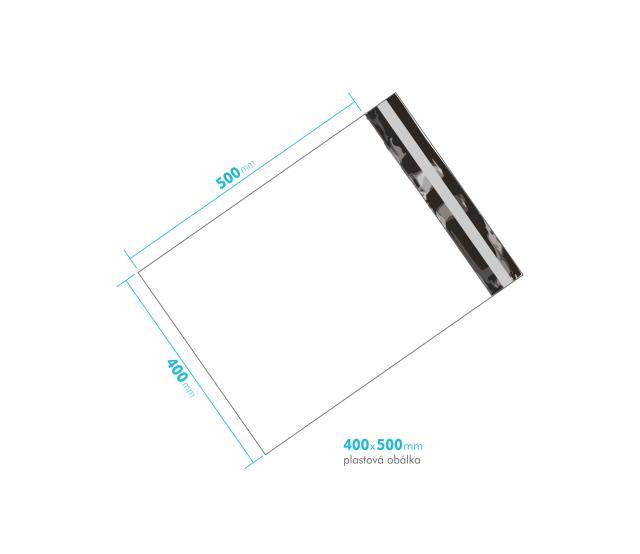 Plastová obálka 400x500mm