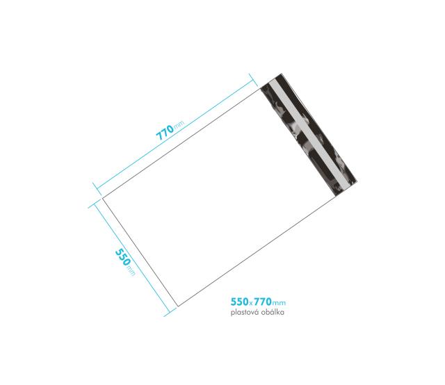 Plastová obálka 550x770mm