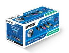 Originální tonery EPSON C13S050268 (Černý a barevné) multipack