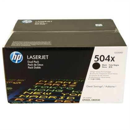 Originální toner HP 504X, HP CE250XD (Černý) multipack