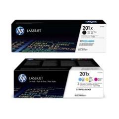 Originální tonery HP 201X, HP CF253XM (Černý a barevné) multipack
