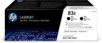 Originální tonery HP 83X, HP CF283XD (Černý) multipack