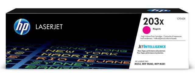 Originální toner HP 203X, HP CF543X (Purpurový)