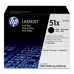 Originální toner HP 51X, HP Q7551XD (Černý) multipack