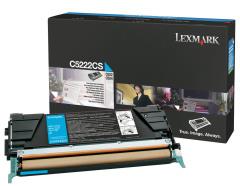 Toner do tiskárny Originální toner Lexmark C5222CS (Azurový)
