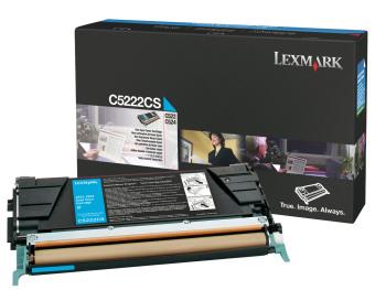 Originální toner Lexmark C5222CS (Azurový)