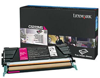 Originální toner Lexmark C5222MS (Purpurový)
