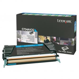 Originální toner Lexmark C734A1CG (Azurový)
