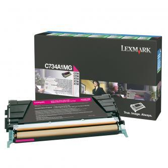 Originální toner Lexmark C734A1MG (Purpurový)