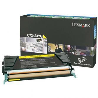 Originální toner Lexmark C734A1YG (Žlutý)