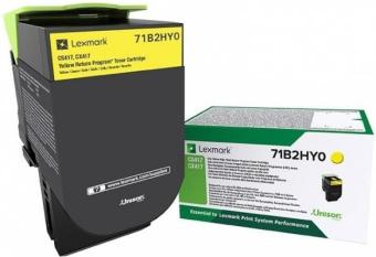 Originální toner Lexmark 71B2HY0 (Žlutý)