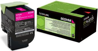 Originální toner Lexmark 80C2HM0 (Purpurový)