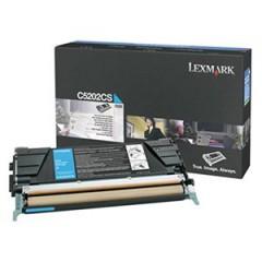 Toner do tiskárny Originální toner Lexmark C5202CS (Azurový)