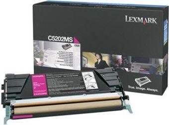 Originální toner Lexmark C5202MS (Purpurový)