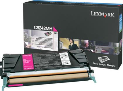 Originální toner Lexmark C5242MH (Purpurový)