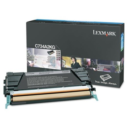 Originální toner Lexmark C734A2KG (Černý)