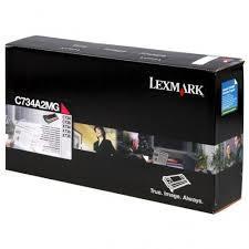Originální toner Lexmark C734A2MG (Purpurový)