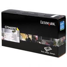 Toner do tiskárny Originální toner Lexmark C734A2YG (Žlutý)