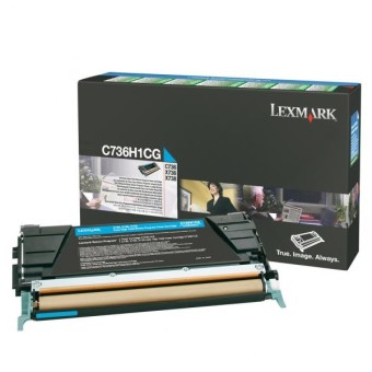 Originální toner Lexmark C736H1CG (Azurový)