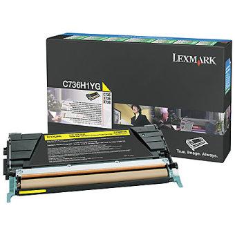 Originální toner Lexmark C736H1YG (Žlutý)