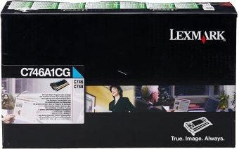Originální toner Lexmark C746A1CG (Azurový)