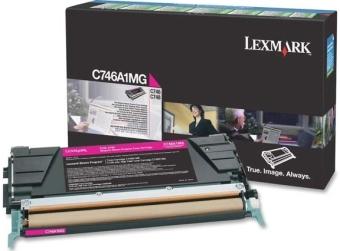 Originální toner Lexmark C746A1MG (Purpurový)