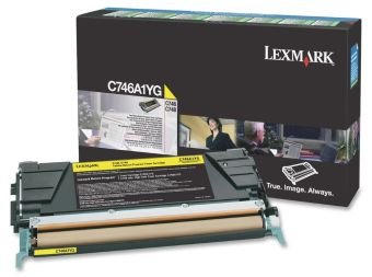 Originální toner Lexmark C746A1YG (Žlutý)