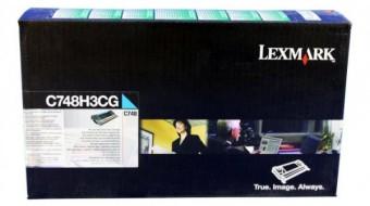 Originální toner Lexmark C748H3CG (Azurový)