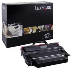 Toner do tiskárny Originální toner Lexmark T650A11E (Černý)