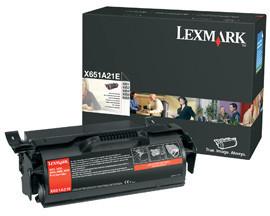 Originální toner Lexmark X651A21 (Černý)