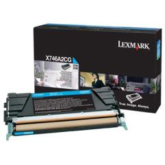 Toner do tiskárny Originální toner Lexmark X746A2CG (Azurový)