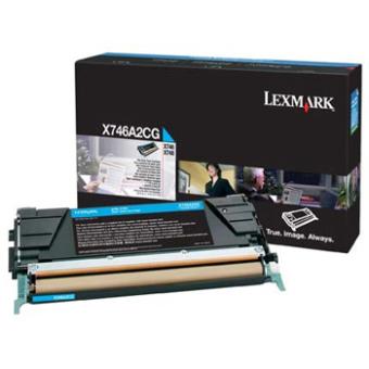 Originální toner Lexmark X746A2CG (Azurový)