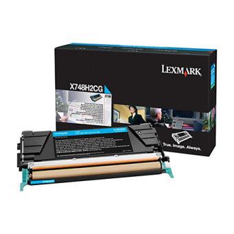 Originální toner Lexmark X748H2CG (Azurový)