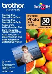 Fotopapír 10x15cm Brother Premium Glossy photo, 50 listů, 260 g/m2, lesklý, bílý, inkoustový (BP71GP50)