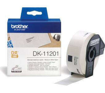 Originální etikety Brother DK-11201, papírové bílé, stand. adresy, 29 x 90mm, 400ks