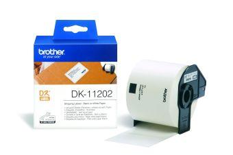 Originální etikety Brother DK-11202, papírové štítky 62 x 100 mm, 300ks