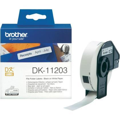 Originální etikety Brother DK-11203, papírové bílé, databáze 17 x 87mm, 300 ks