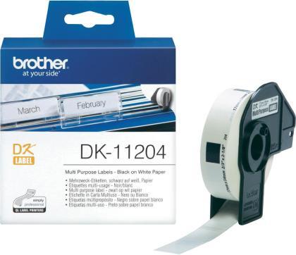 Originální etikety Brother DK-11204, papírové bílé, univ. štítek, 17 x 54mm, 400ks