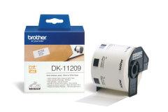 Originální etikety Brother DK-11209, papírové bílé, úzké adresy, 29 x 62mm, 800ks