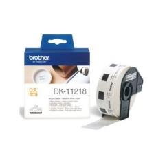 Originální etikety Brother DK-11218, papírové bílé, kulaté, průměr 24mm, 1000ks