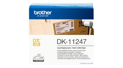 Originální etikety Brother DK-11247, bílé, velké adresní štítky, 103 x 164mm, 180ks